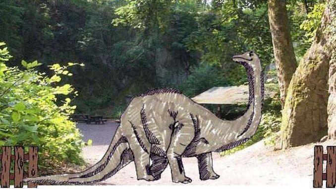 Un dinosaur au Nasseplatz, Siebengebirge?
