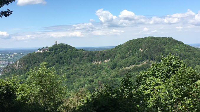 Drachenfels et Wolkenburg, vue due Breiberg