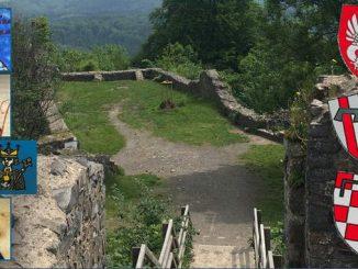 Château fort Löwenburg, empereurs, blasons