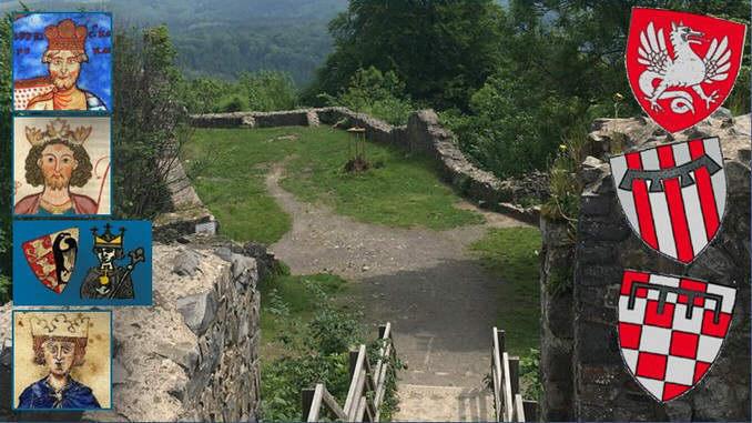 L'époque des Hohenstaufen, château-fort Löwenburg, empereurs, blasons