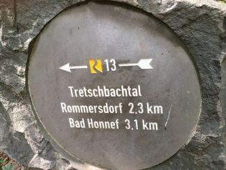 Poteau indicateur Tretschbachtal