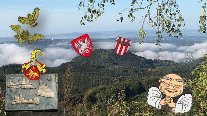 Drachenfels et Wolkenburg, blasons