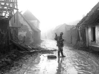 Etricourt détruit, 1918