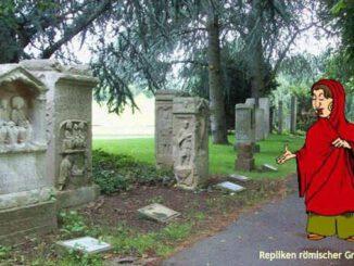 Repliques des pierres tombales romaines, Rheinaue, Bonn